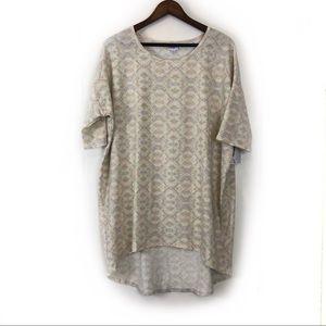 Lularoe Irma Pastel Geometric Pattern Shirt